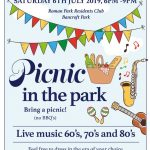 Summer's here and we have been invited back to Bancroft Park in Milton Keynes for their 'Picnic in the Park', on Saturday 6th July. We are doing two 30 minute sets of fabulous 60's & 70's songs, first one to open the evening at 6pm and then we will be closing the event with our second set around 8.30pm.